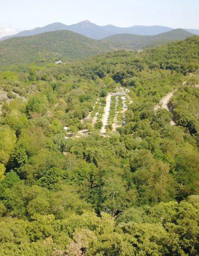 Image aérienne Camping La Clapère